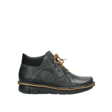 wolky veterschoenen 08384 gallo 50000 zwart geolied leer