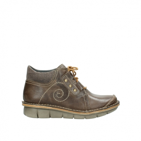 wolky veterschoenen 08384 gallo 50150 taupe geolied leer