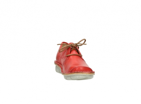 wolky lace up shoes 08387 milton 30500 red leather_18