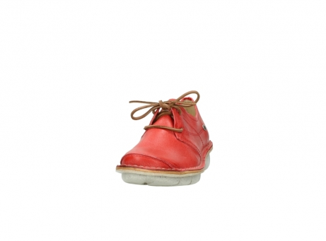 wolky lace up shoes 08387 milton 30500 red leather_20