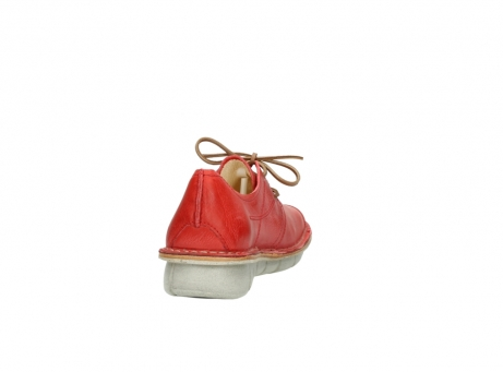 wolky lace up shoes 08387 milton 30500 red leather_8