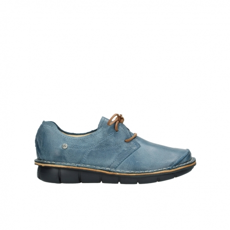 wolky lace up shoes 08387 milton 30890 blue leather