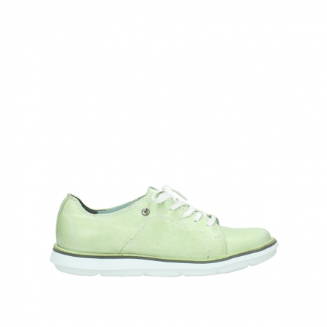 wolky lace up shoes 08475 coal 30750 lime leather