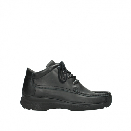 wolky lace up shoes 09200 roll moc men 90000 black leather