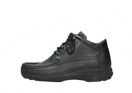 wolky lace up shoes 09200 roll moc men 90000 black leather_1