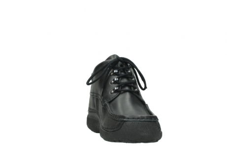 wolky lace up shoes 09200 roll moc men 90000 black leather_18