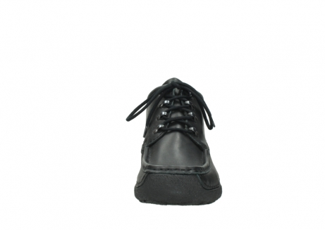 wolky lace up shoes 09200 roll moc men 90000 black leather_19