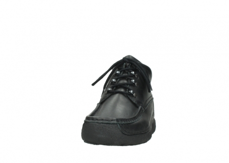 wolky lace up shoes 09200 roll moc men 90000 black leather_20