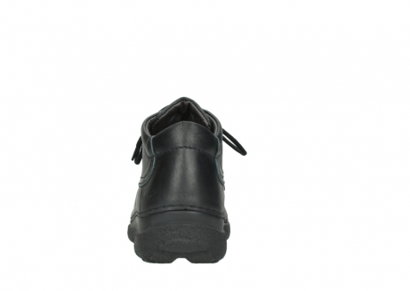 wolky lace up shoes 09200 roll moc men 90000 black leather_7