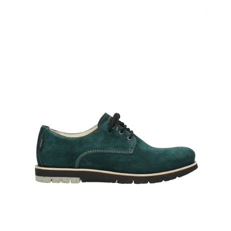 wolky lace up shoes 09392 canberra winter 40880 petrol blue suede