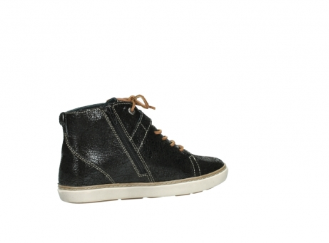 wolky lace up shoes 09457 alba 90000 black craquele leather_11