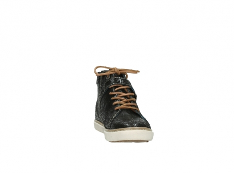 wolky lace up shoes 09457 alba 90000 black craquele leather_18