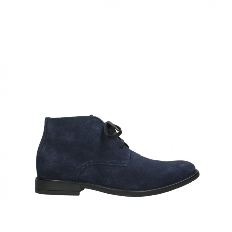wolky veterschoenen 09986 washington men 40800 blauw leer