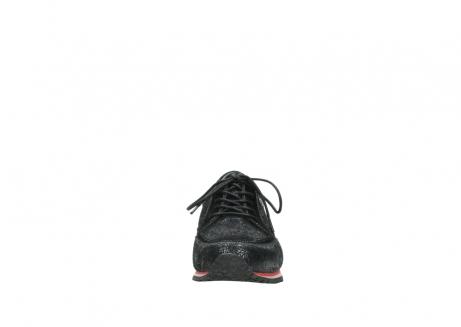 wolky veterschoenen 1483 ewood winter 400 zwart geprint suede_19