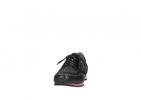 wolky veterschoenen 1483 ewood winter 400 zwart geprint suede_20