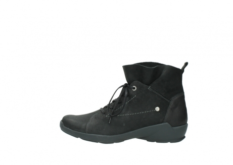 wolky veterschoenen 1574 bello 100 zwart nubuck_1