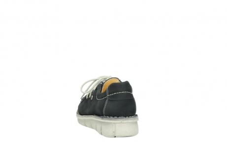 wolky veterschoenen 1625 dutch 107 zwart nubuck_6