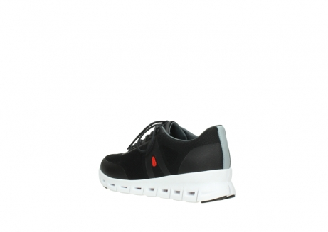 wolky lace up shoes 2050 nano 900 black mesh upper_4