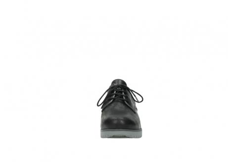 wolky veterschoenen 3814 gobly 560 donkerpaars zwart geolied leer_19