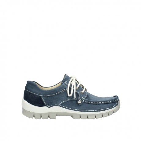 wolky veterschoenen 4708 seamy fly 182 denim blauw nubuck