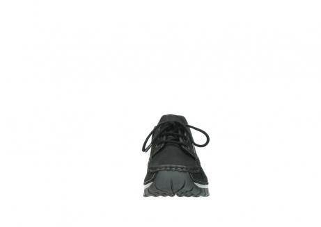 wolky veterschoenen 4726 fly winter 505 zwart metallic geolied nubuck_19