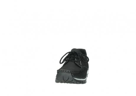 wolky veterschoenen 4726 fly winter 505 zwart metallic geolied nubuck_20