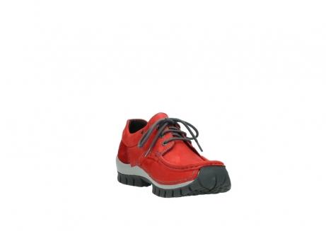 wolky veterschoenen 4726 fly winter 552 rood grijs geolied nubuck_17