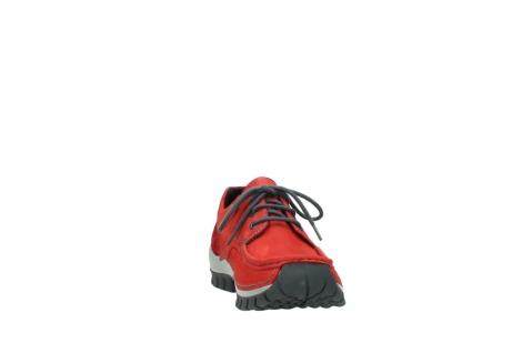 wolky veterschoenen 4726 fly winter 552 rood grijs geolied nubuck_18