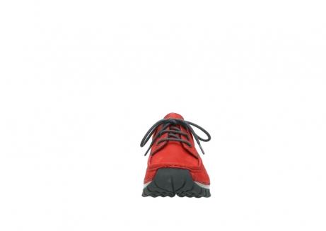 wolky veterschoenen 4726 fly winter 552 rood grijs geolied nubuck_19