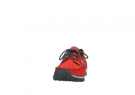 wolky veterschoenen 4726 fly winter 552 rood grijs geolied nubuck_20