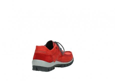 wolky veterschoenen 4726 fly winter 552 rood grijs geolied nubuck_9