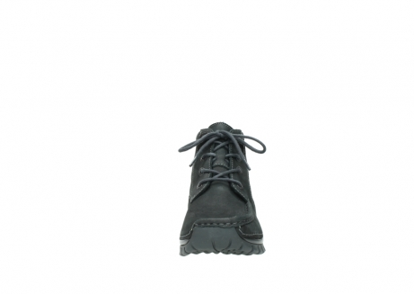wolky veterschoenen 4735 seamy cross up 100 zwart nubuck_19