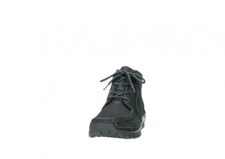 wolky veterschoenen 4735 seamy cross up 100 zwart nubuck_20