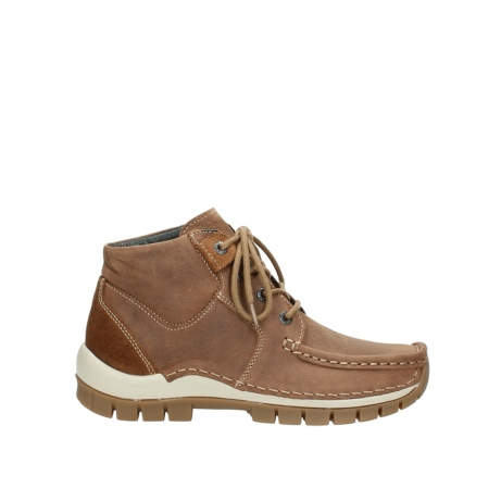 wolky veterschoenen 4735 seamy cross up 143 cognac nubuck