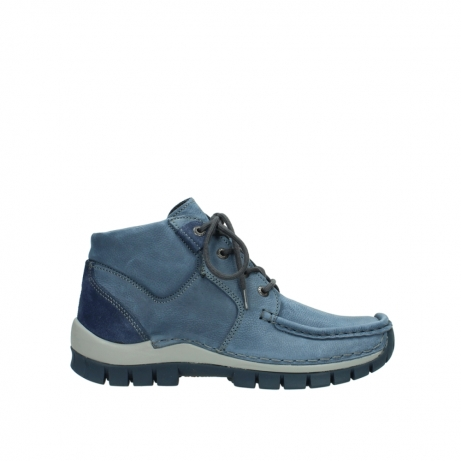 wolky veterschoenen 4735 seamy cross up 180 donkerblauw nubuck