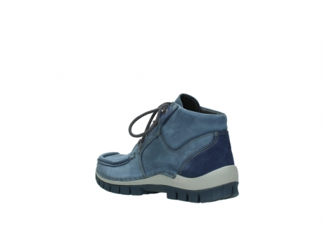 wolky veterschoenen 4735 seamy cross up 180 donkerblauw nubuck_4