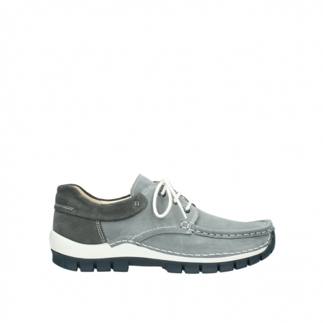 wolky veterschoenen 4750 fly men 120 grijs nubuck