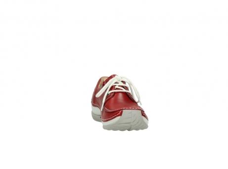 wolky veterschoenen 4800 coral 257 rood leer_18