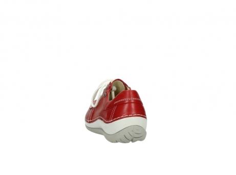 wolky veterschoenen 4800 coral 257 rood leer_6