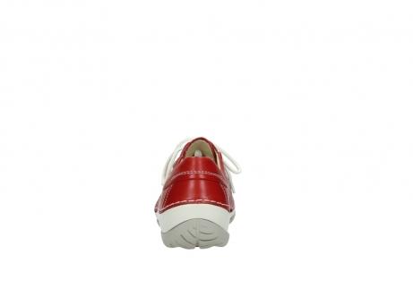 wolky veterschoenen 4800 coral 257 rood leer_7