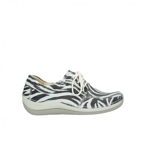 wolky veterschoenen 4800 coral 912 zebraprint metallic leer
