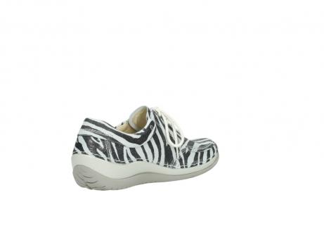 wolky veterschoenen 4800 coral 912 zebraprint metallic leer_10