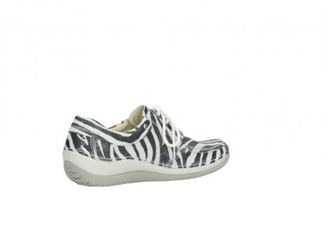 wolky veterschoenen 4800 coral 912 zebraprint metallic leer_11