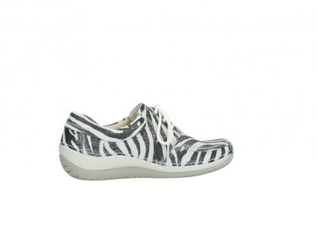 wolky veterschoenen 4800 coral 912 zebraprint metallic leer_12