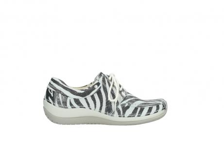 wolky veterschoenen 4800 coral 912 zebraprint metallic leer_13