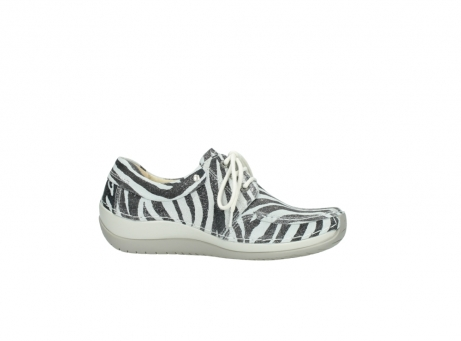 wolky veterschoenen 4800 coral 912 zebraprint metallic leer_14