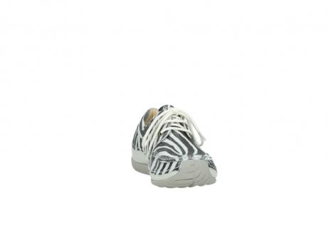 wolky veterschoenen 4800 coral 912 zebraprint metallic leer_18