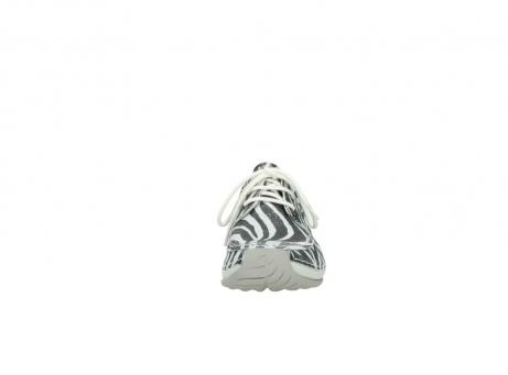 wolky veterschoenen 4800 coral 912 zebraprint metallic leer_19