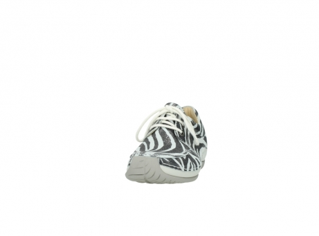 wolky veterschoenen 4800 coral 912 zebraprint metallic leer_20