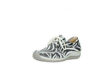 wolky veterschoenen 4800 coral 912 zebraprint metallic leer_22